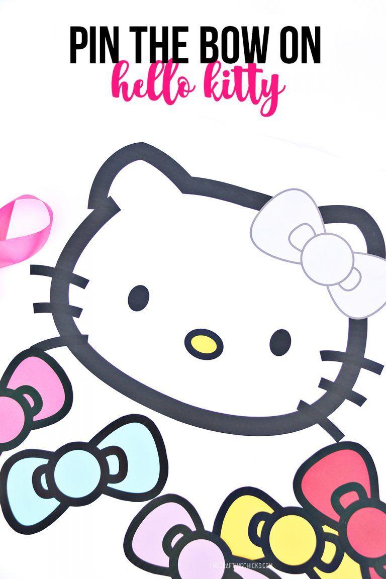 Pin The Bow On Hello Kitty Hello Kitty Theme Party Hello Kitty Party Hello Kitty Birthday Party