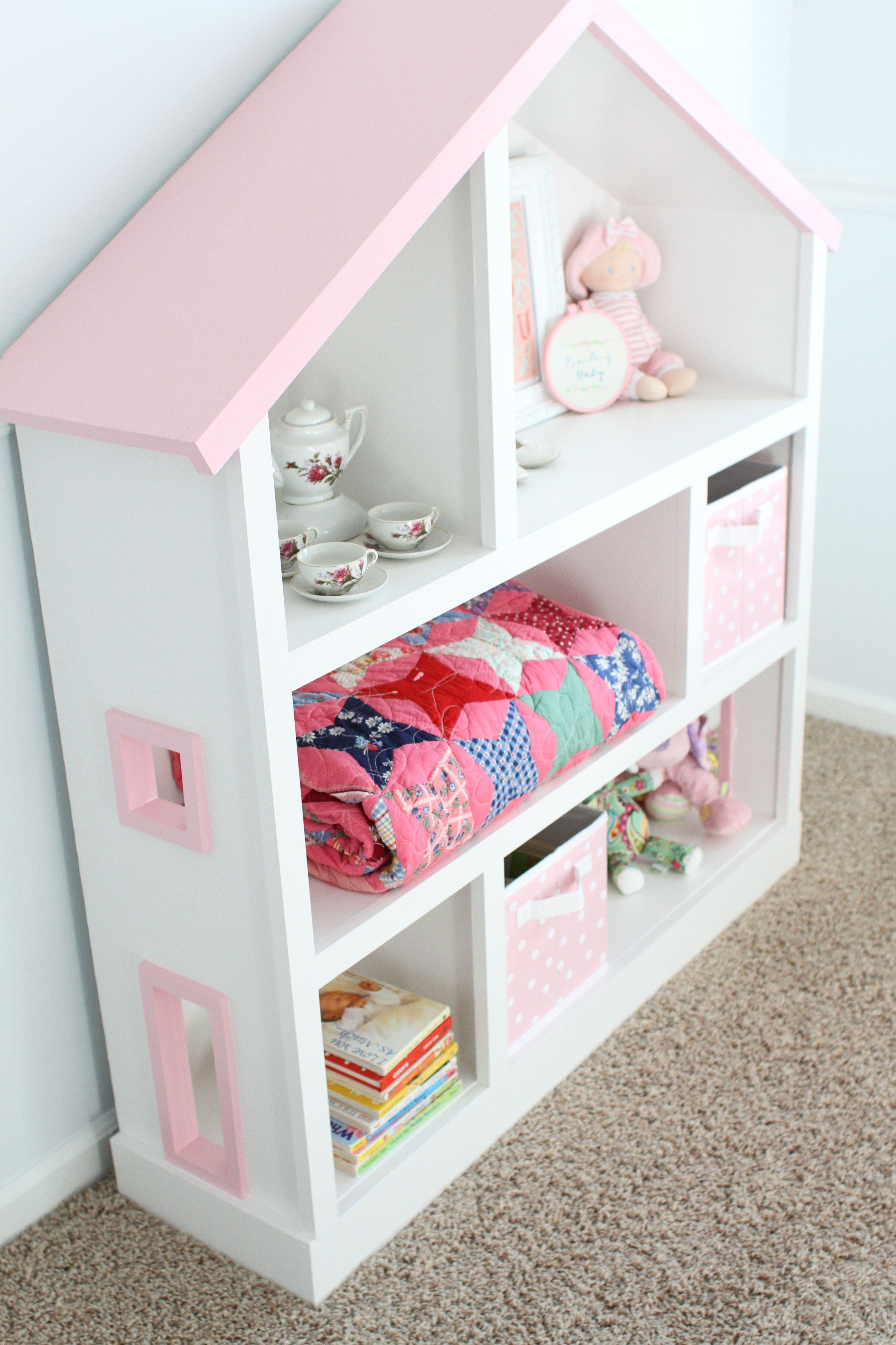 Princess Toys Box Storage Kids Girls Chest Bedroom Clothes: Cutest Dollhouse Bookcase To Build Yourself