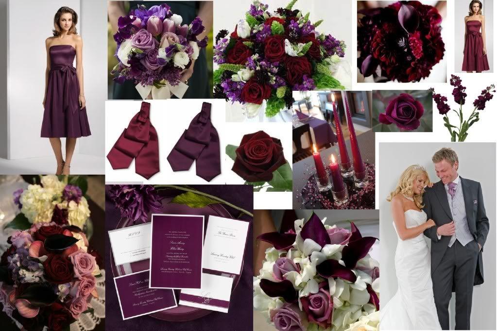 Opinions please Burgundy and Plum Plum fall weddings