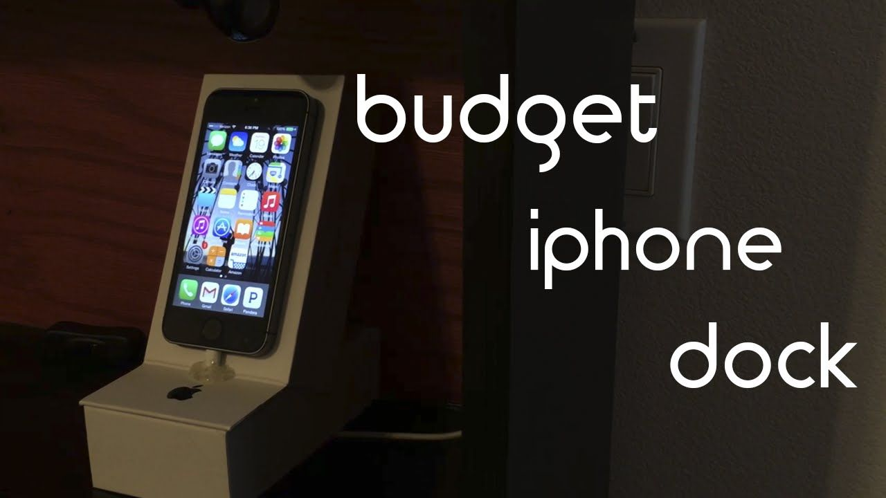 Budget DIY iphone dock.