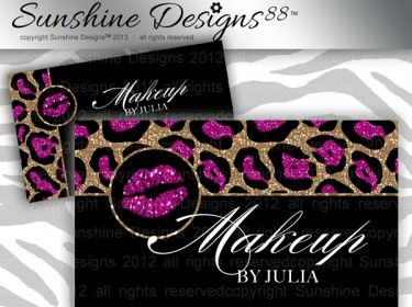 Makeup business card salon template lips leopard pattern instant makeup business card salon template lips leopard pattern instant download colourmoves Image collections