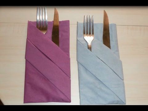 ᴴᴰ Paper Napkin Folding Basic Pouch In 1 Minute 6