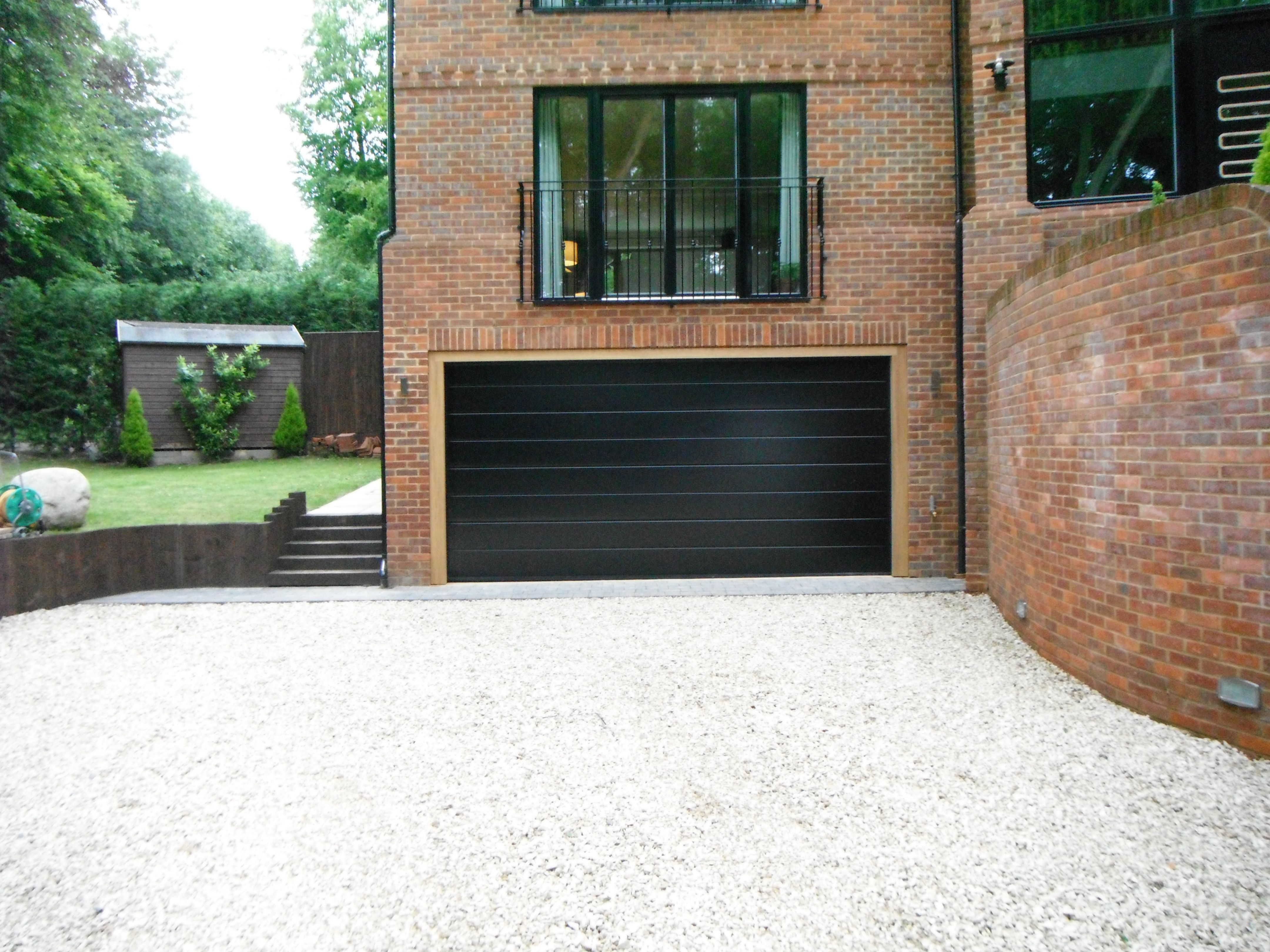 pin by creative home design interior and exterior design on home hormann sectional m ribbed in black garage door