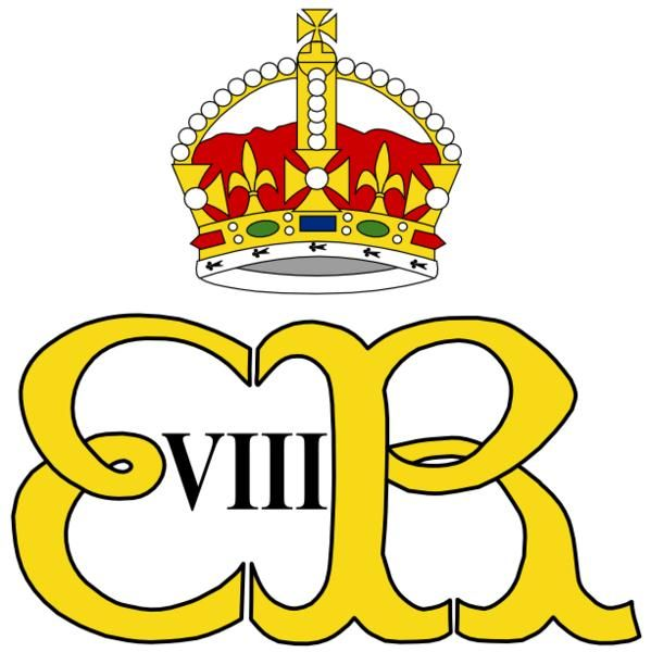 Royal Monogram Of King Edward Viii Of Great Britain Royal Queen
