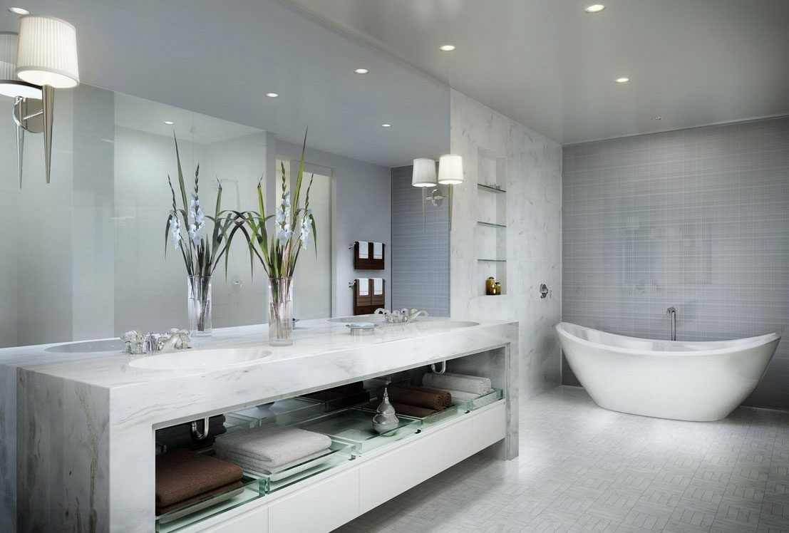 Cuarto de ba o marmol inspiraci n de dise o de interiores vv ba o marmol pinterest ba os Espejos cuarto de bano modernos