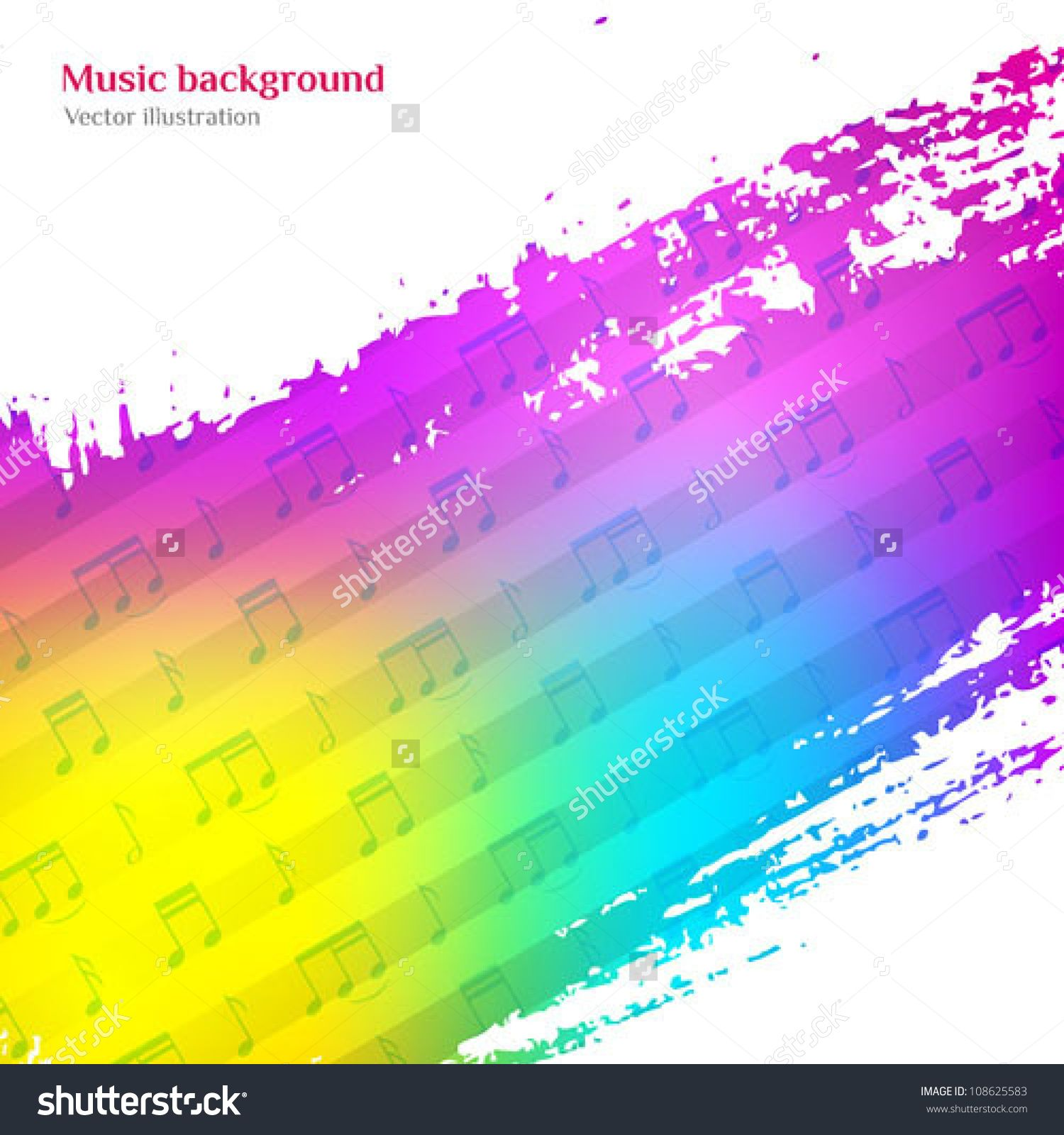 Music Background. Colorful Vector Illustration. Cd Cover Design ...