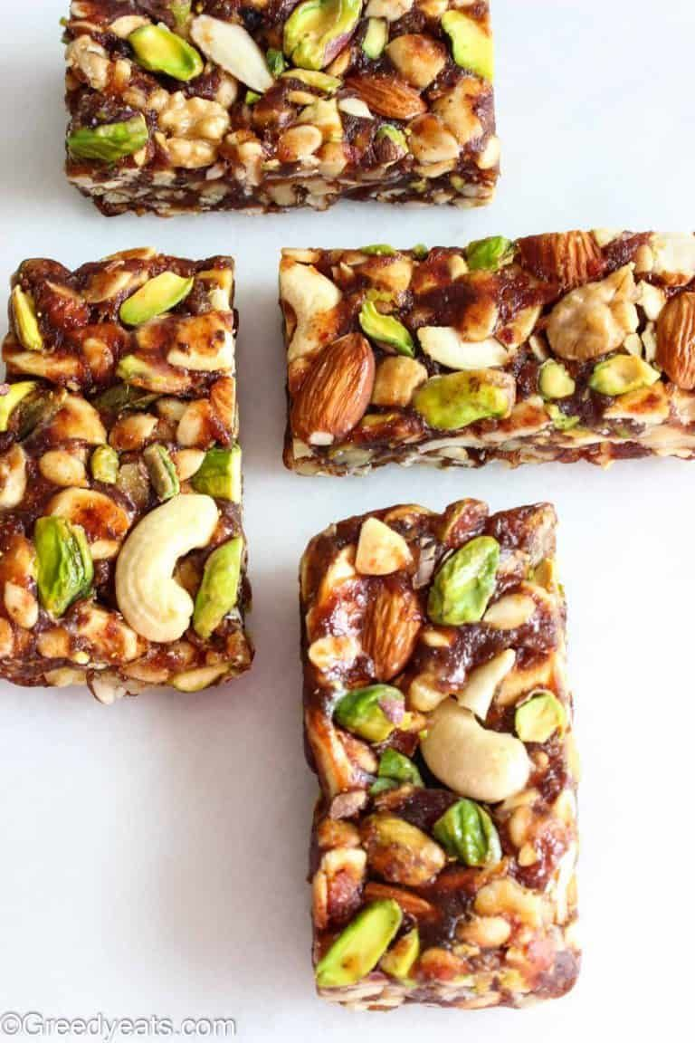 Healthy Date Bars Healthy Date Nut Bars Greedy Eats Bars Recipes Healthy Healthy Snacks Recipes Healthy Snacks Easy