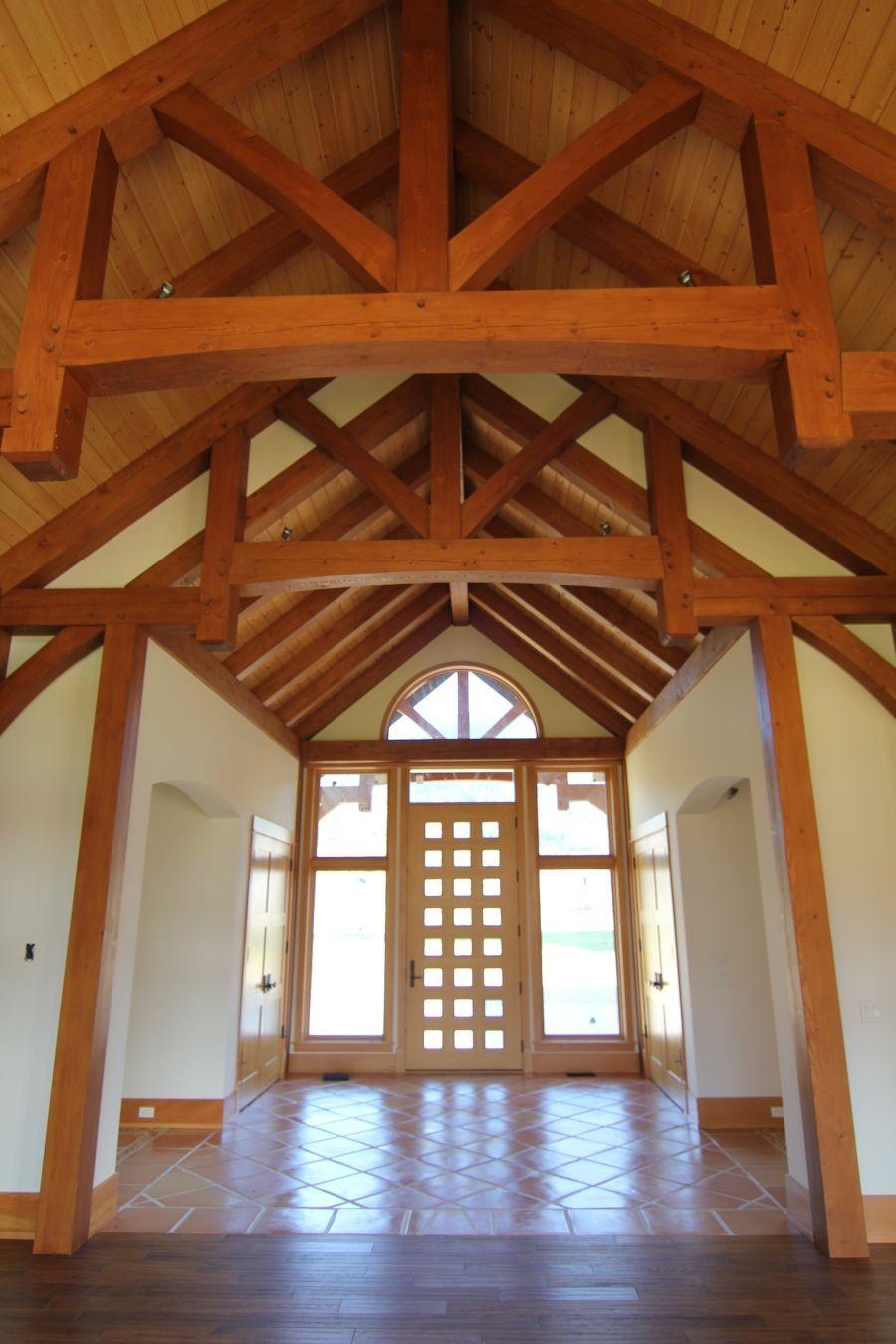 Lovely Entry Khm Design Timberframe Roof Truss Design