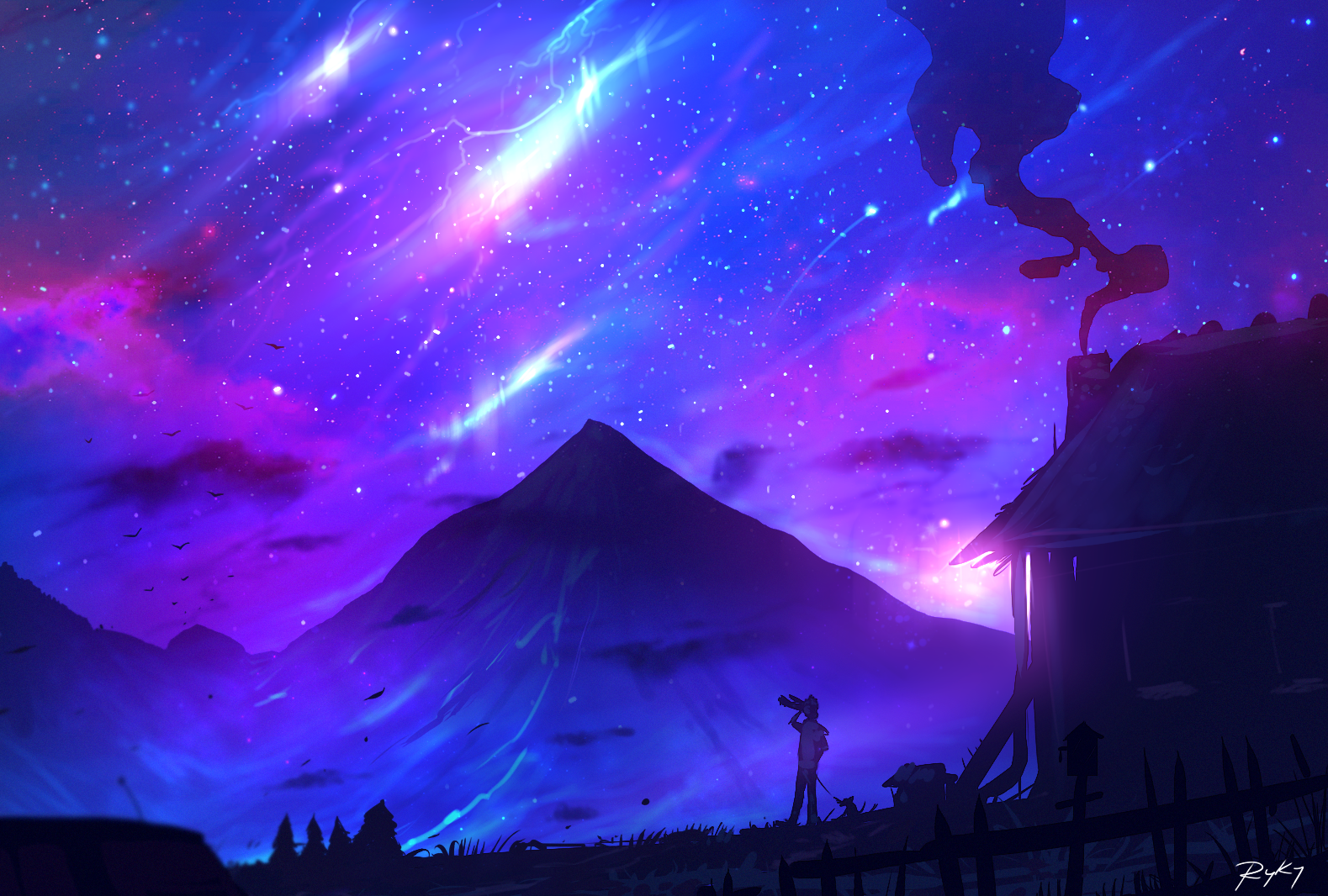 Purple Sky by on DeviantArt