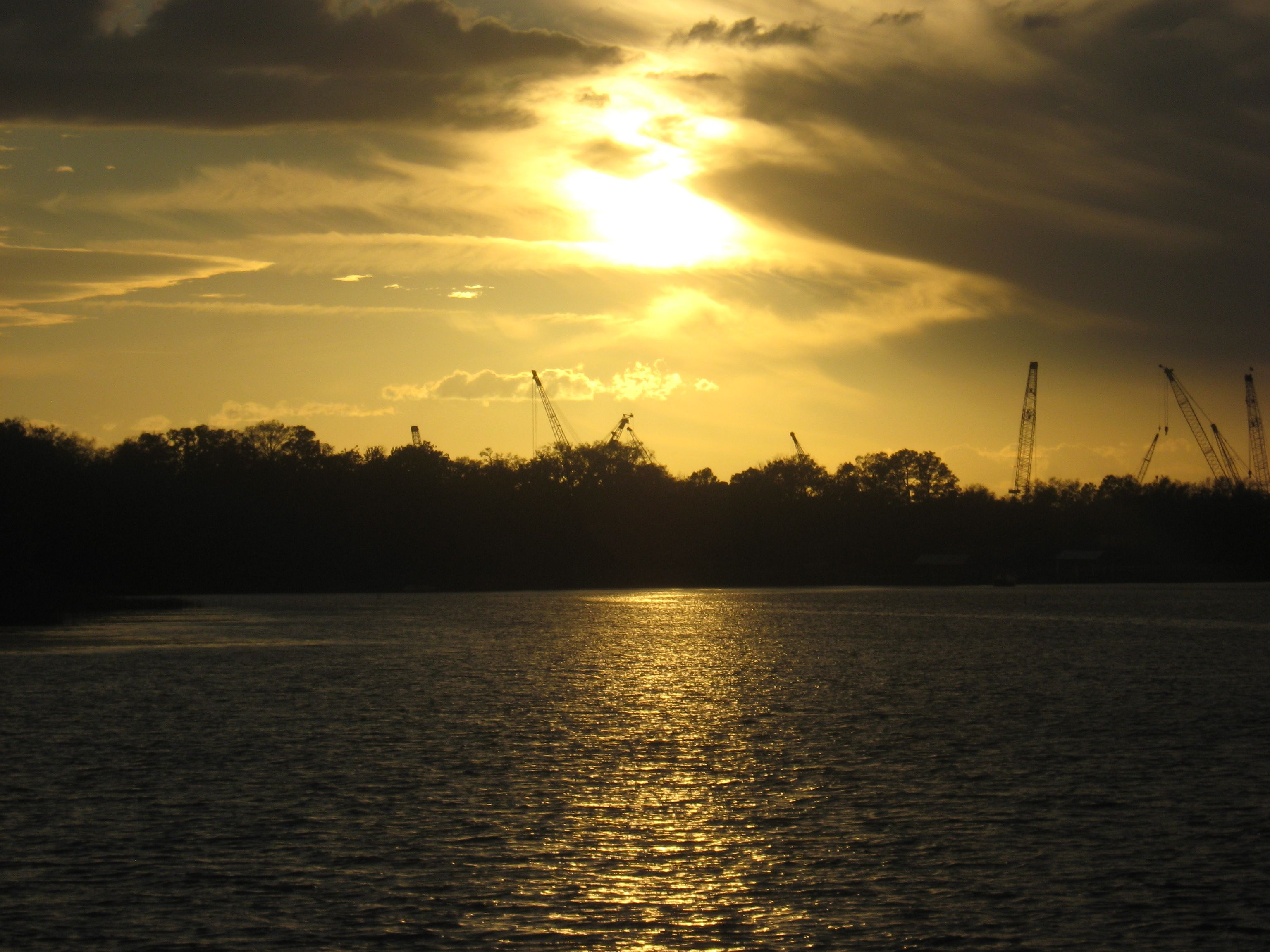 Photo I took of sunset in Green Cove Springs, FL