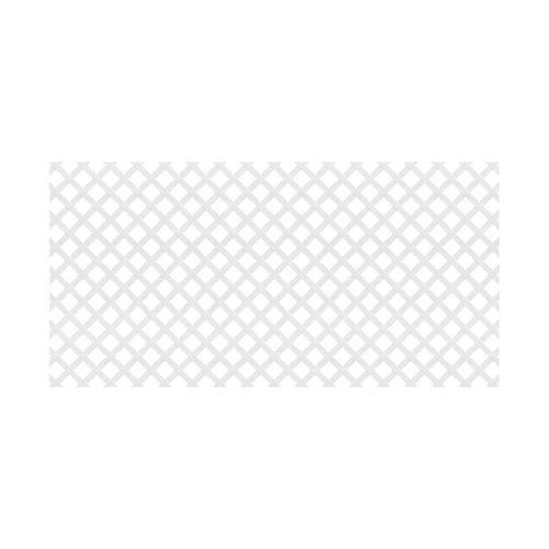 Deckorators Common 1 8 In X 48 In X 8 Ft Actual 0 125 In X 47 5 In X 7 91 Ft White Plastic Traditiona In 2020 Decorative Screen Panels Deckorators Plastic Lattice