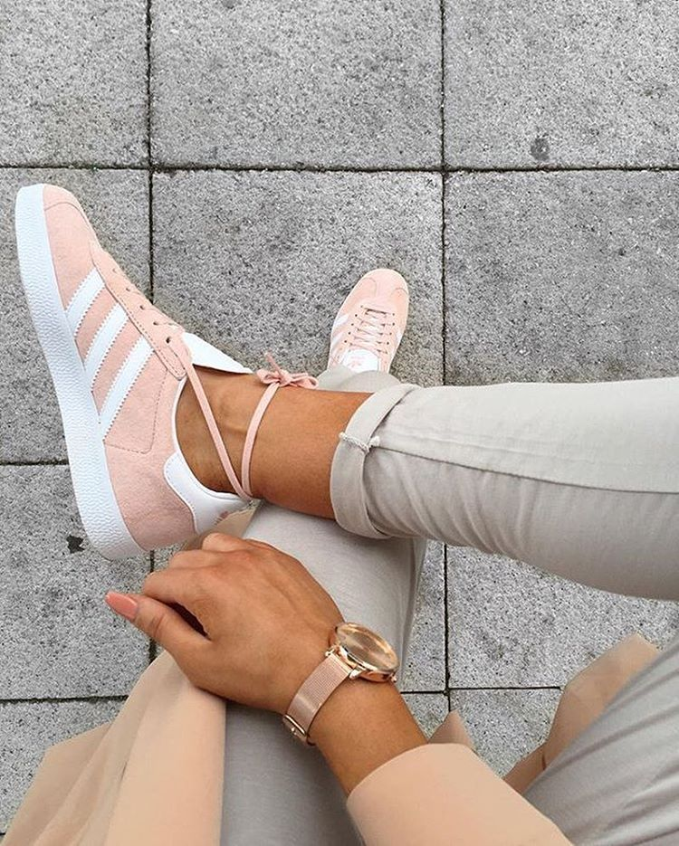 3c7c9c731431 GAZELLE - Baskets basses - vapour pink white gold metallic   ZALANDO ...