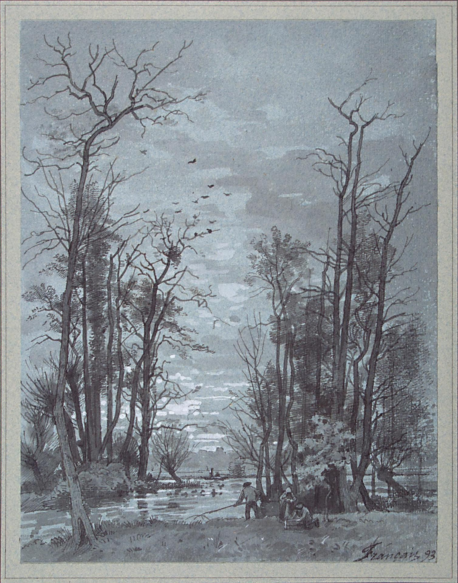 Author: Francais, Louis. 1814-1897 Title: Autumn Landscape. Bank of ...