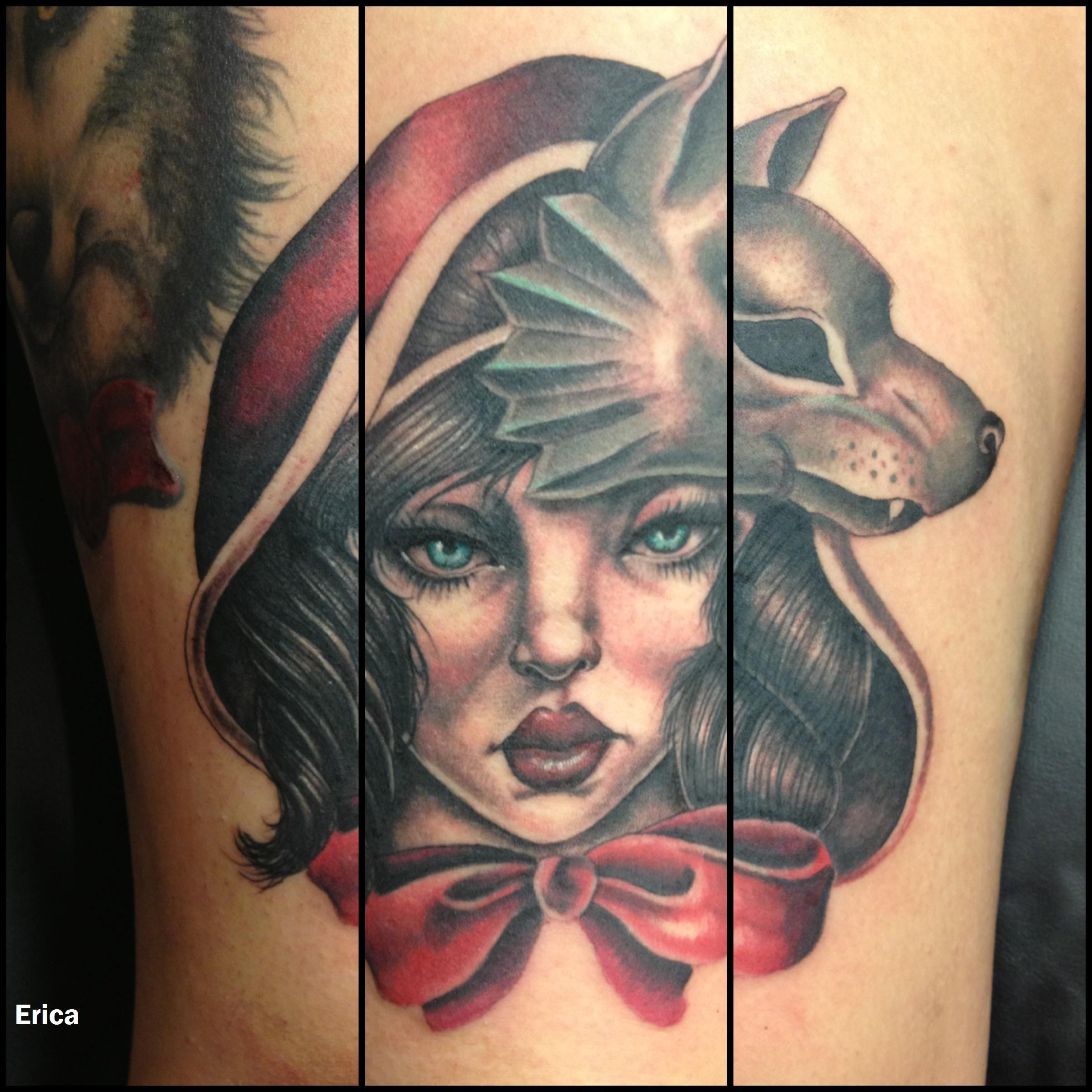 Little Red Riding Hood, Portrait, Tattoo, BlackPearlTattoo