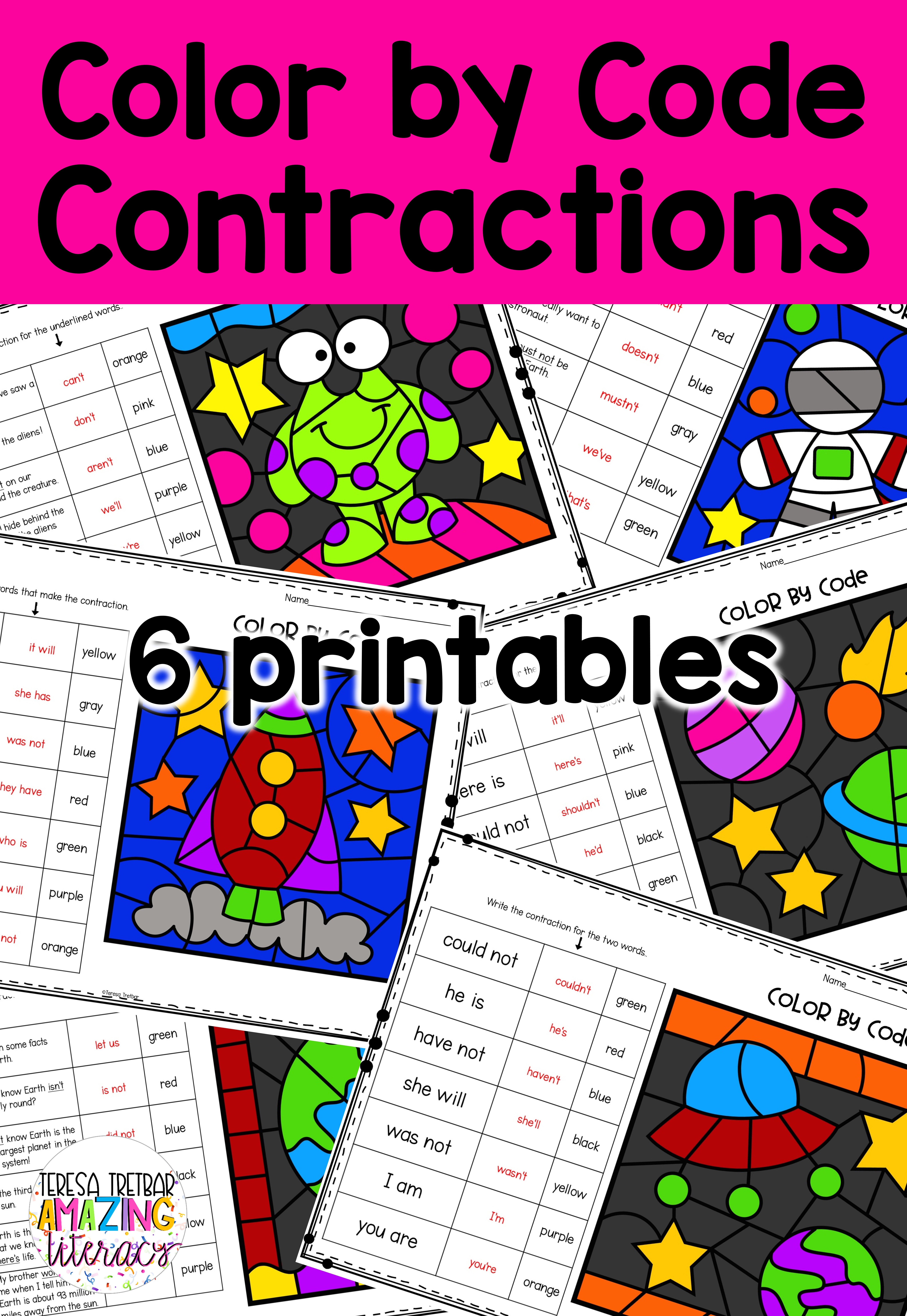 Contractions Color By Code