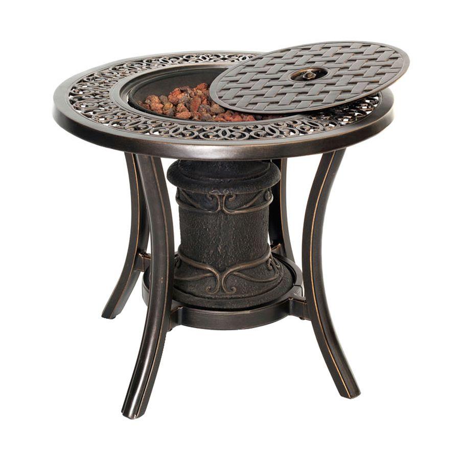 Hanover Outdoor Furniture 24.01-in W 10,000-BTU Bronze ...