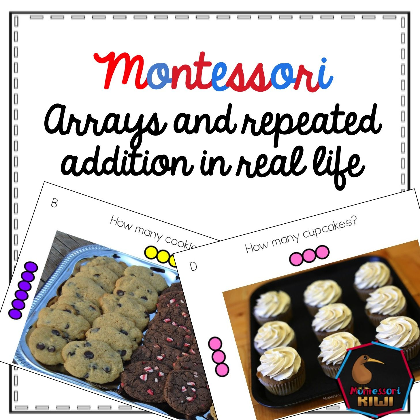 Arrays In Real Life Montessori Math Material For