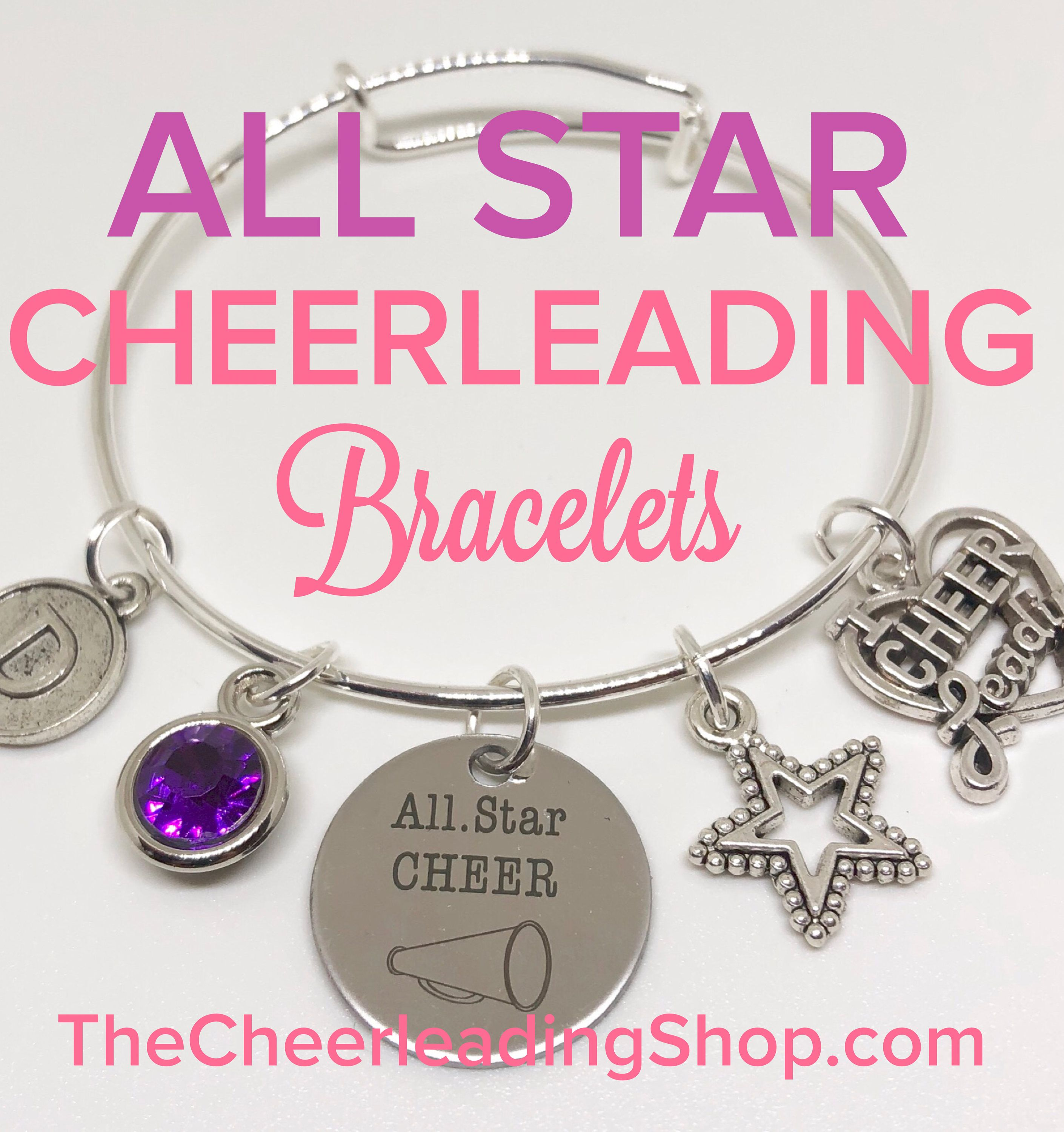 Do you have an All Star Cheerleader and would LOVE the perfect personalized gift? Check out the GORGEOUS All Star Cheerleader bracelets from TheCheerleadingShop.com. :-)