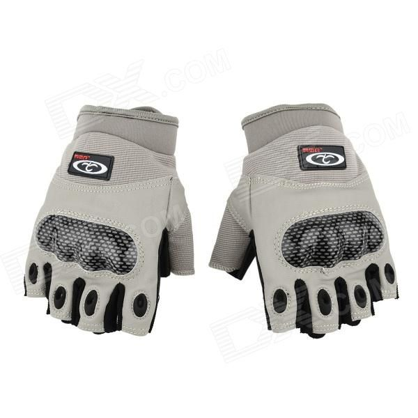 OUMILY Outdoor Tactical Half-Finger Gloves - Gray(Size M / Pair) Price: $13.99