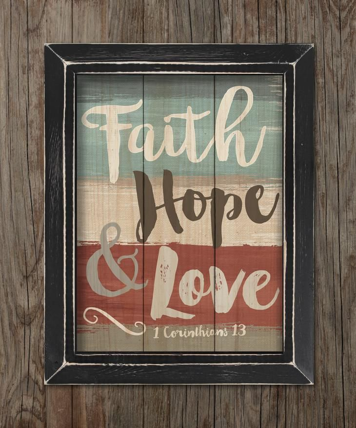 Faith Hope And Love Framed Pallet Sign Rustic Wood Signs