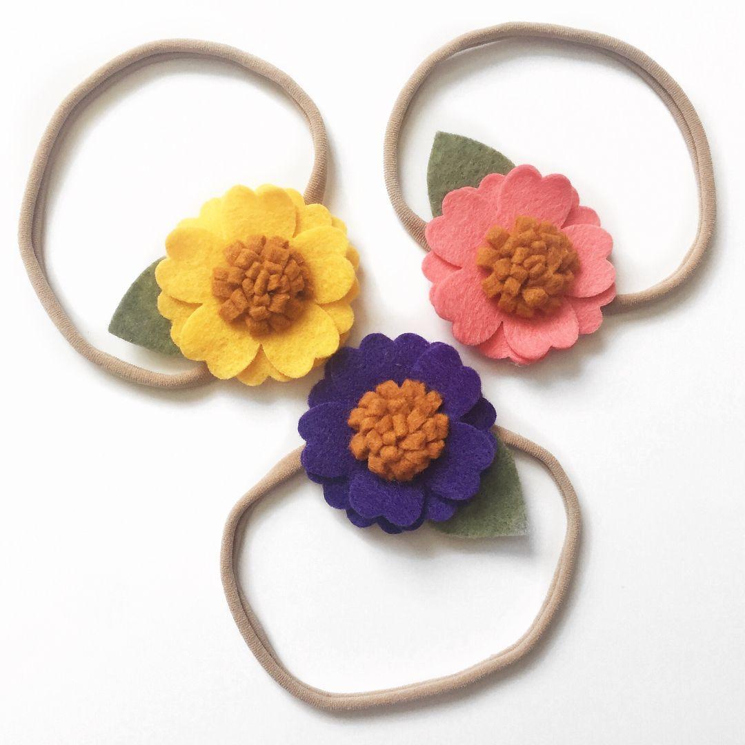 Blossom Flower Headband   Toddler Flower Headband   Sunflower Headband.  Available in dozens of colors e75eea224e5
