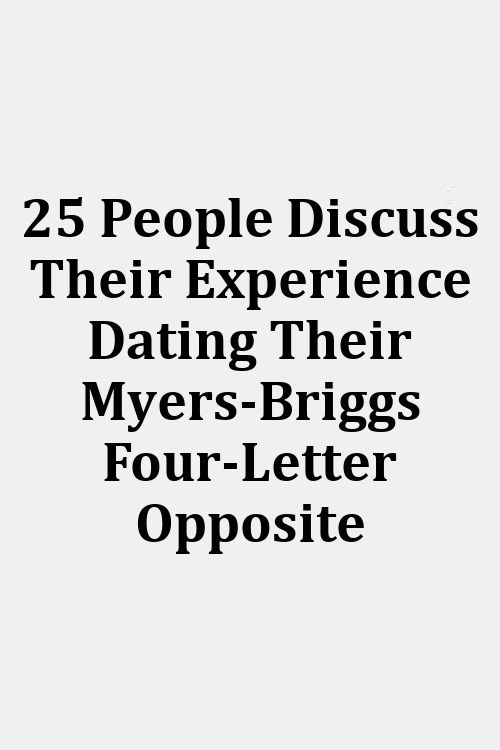 Dating compatibiliteit Myers Briggs