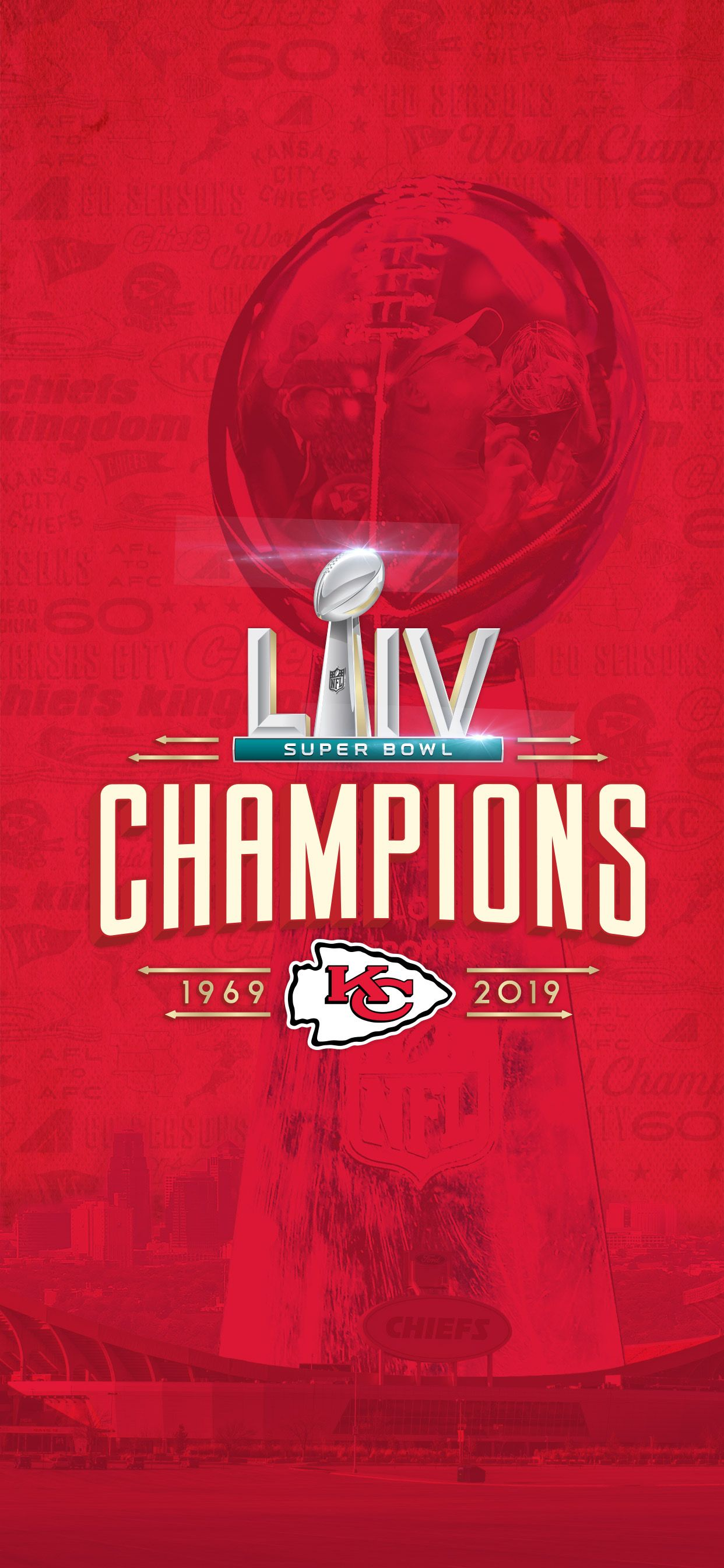 Wallpaper Kc Chiefs Super Bowl Liv Champs In 2020 Kansas City Chiefs Logo Chiefs Wallpaper Kansas City Chiefs