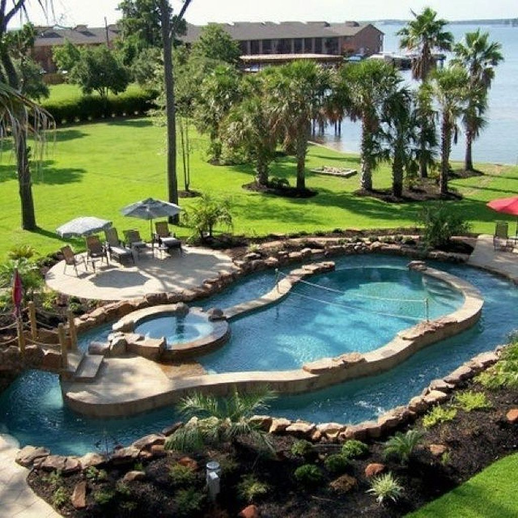 Stunning 60 Insanely Cool Lazy River Pool Ideas In Home Backyard Https Homegardenmagz Com 50 Insanely Cool Lazy Ri Dream Backyard Dream Pools Backyard Oasis