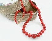 natural red coral necklace $1,800.00