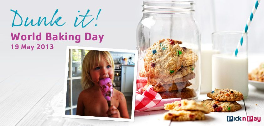 Keep little hands busy on #WorldBakingDay: make delightful rainbow chic-chip cookies together; then dunk them for Sunday tea! #PnP #freshliving