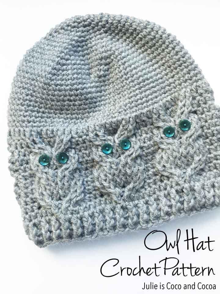 Owl Hat Crochet Pattern | Pot scrubber | Pinterest | Mütze ...