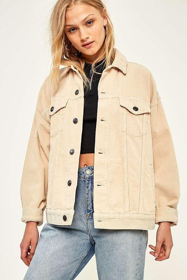 263e286a8f BDG Cream Corduroy Jacket | S T Y L E | Corduroy jacket, Cream ...