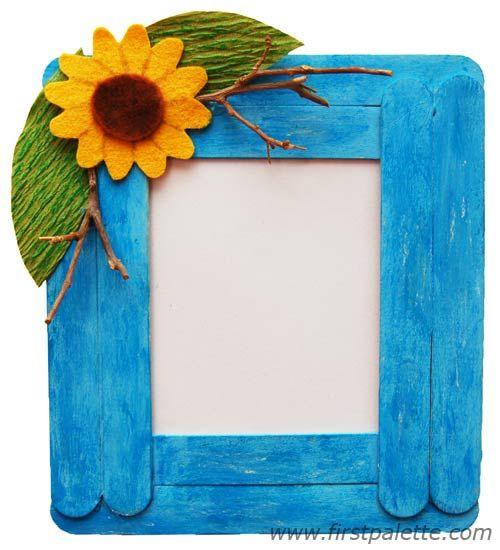 Craft Stick Photo Frame | craft stick projects - popsicle sticks ...