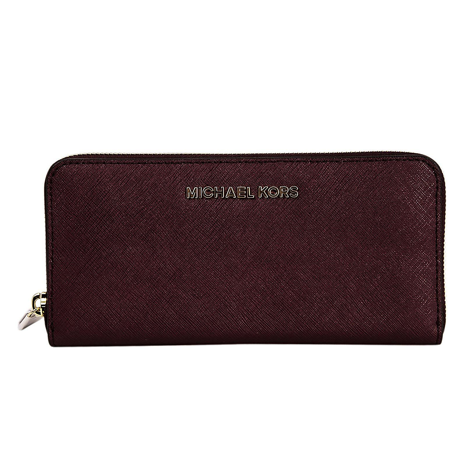 d1370ae78467 Michael Kors Women's Saffiano Leather Continental Wallet - Jet Set Travel Zip  Around