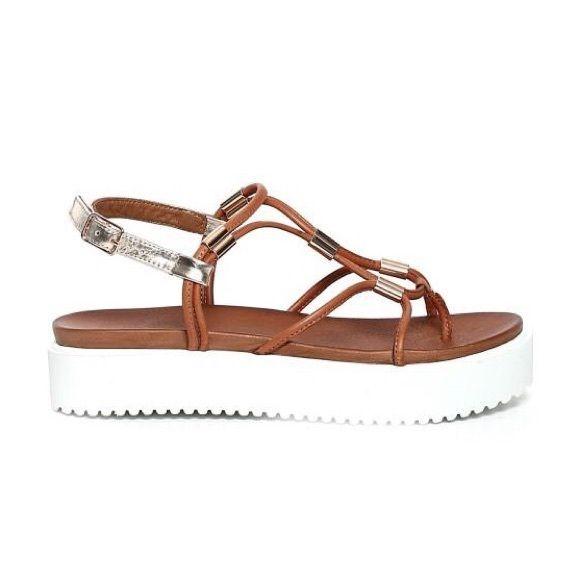 17ecf634ee8 INUOVO Sandals - Sandals with platform heels in trendy designs INUOVO  Sandals inuovo brown leather platform