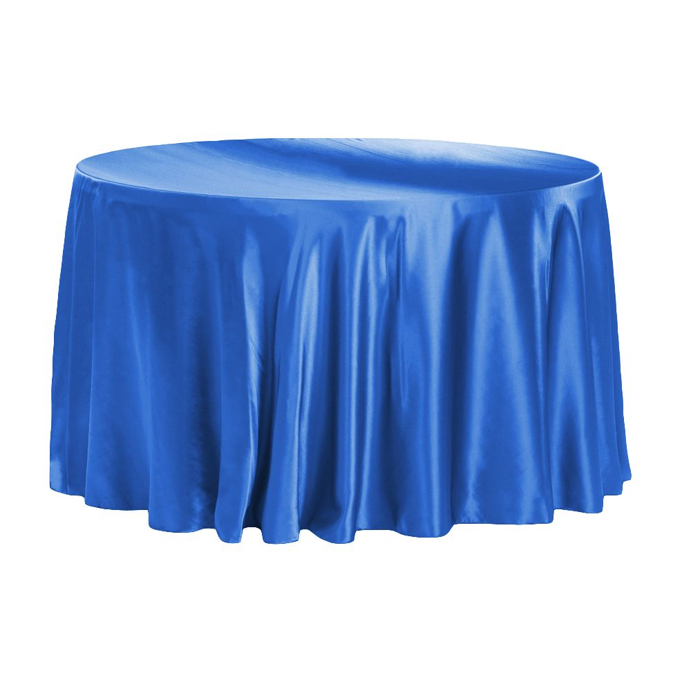 Satin 120 Round Tablecloth Royal Blue Round Tablecloth 120