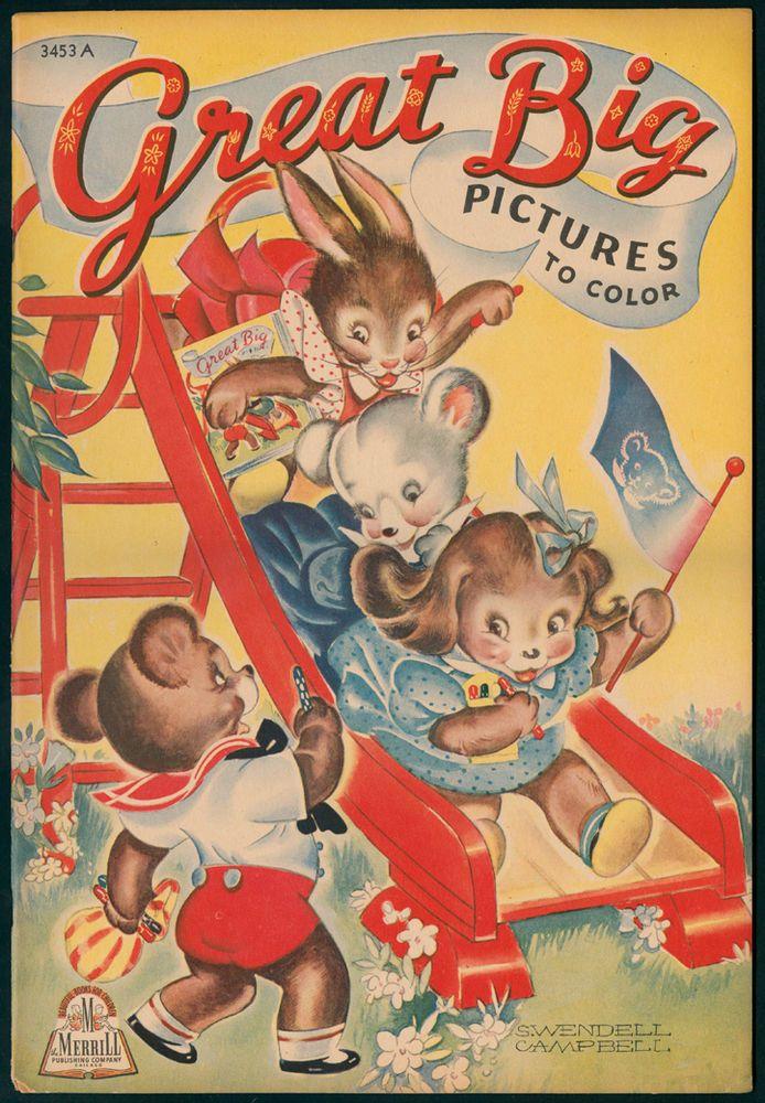 Color Activities Big Picture Childrens Books Children S Vintage Comic Book Colour Pictures Ebay