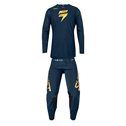 Shift Racing 2018 Blue Label Combo Navy Gold Jersey L Pants 34