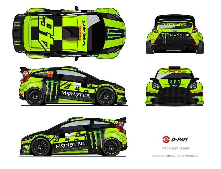 Image result for valentino rossi ford fiesta monza 2015 decal