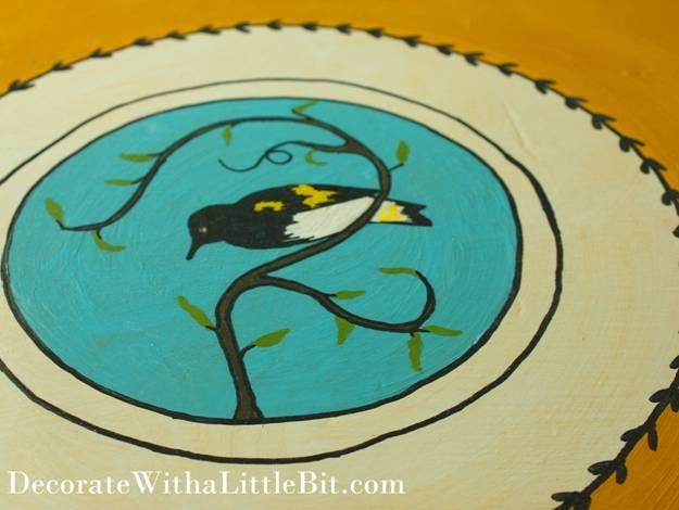 07-05-2012 My Second Favorite Animal is a Songbird...Painting this Table Shows It