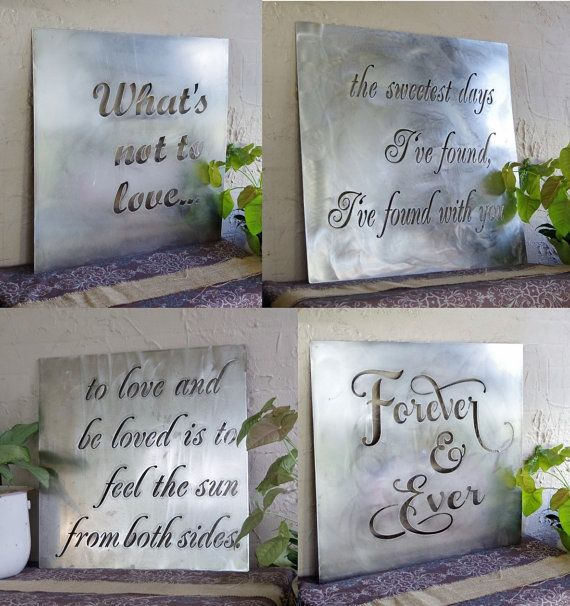 Custom Small Saying Customized Quote Sign Inspirational Etsy In 2020 Steel Wall Art Metal Tree Wall Art Custom Quote Sign