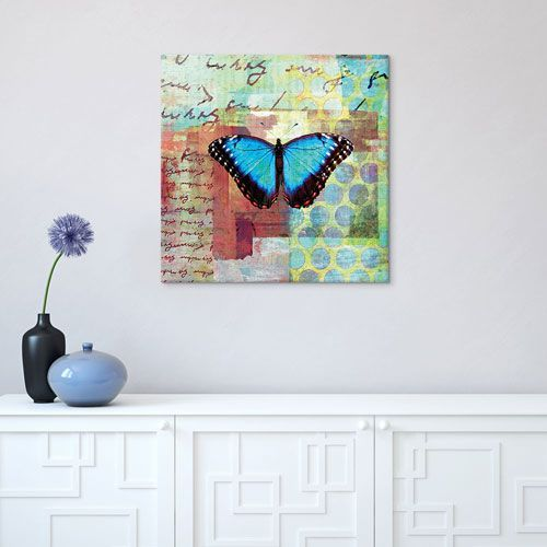 Homespun Butterfly III by Dominic Orologio 18 x 18-Inch Canvas