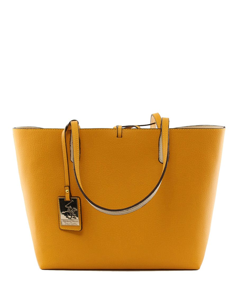 Mustard Beige Shoulder Bag Beverly Hills Polo Club