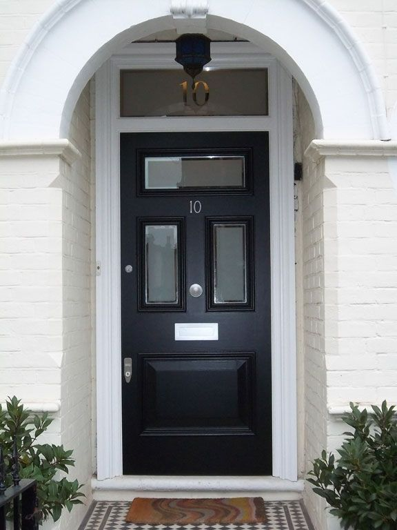 Edwardian Bespoke Door with Etched glass with clear & Pin by Natalie Silva on 12th Night Research | Pinterest | Front ...