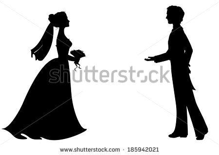 e93e271fb145 Princess And Prince Silhouette Stock Vectors & Vector Clip Art    Shutterstock
