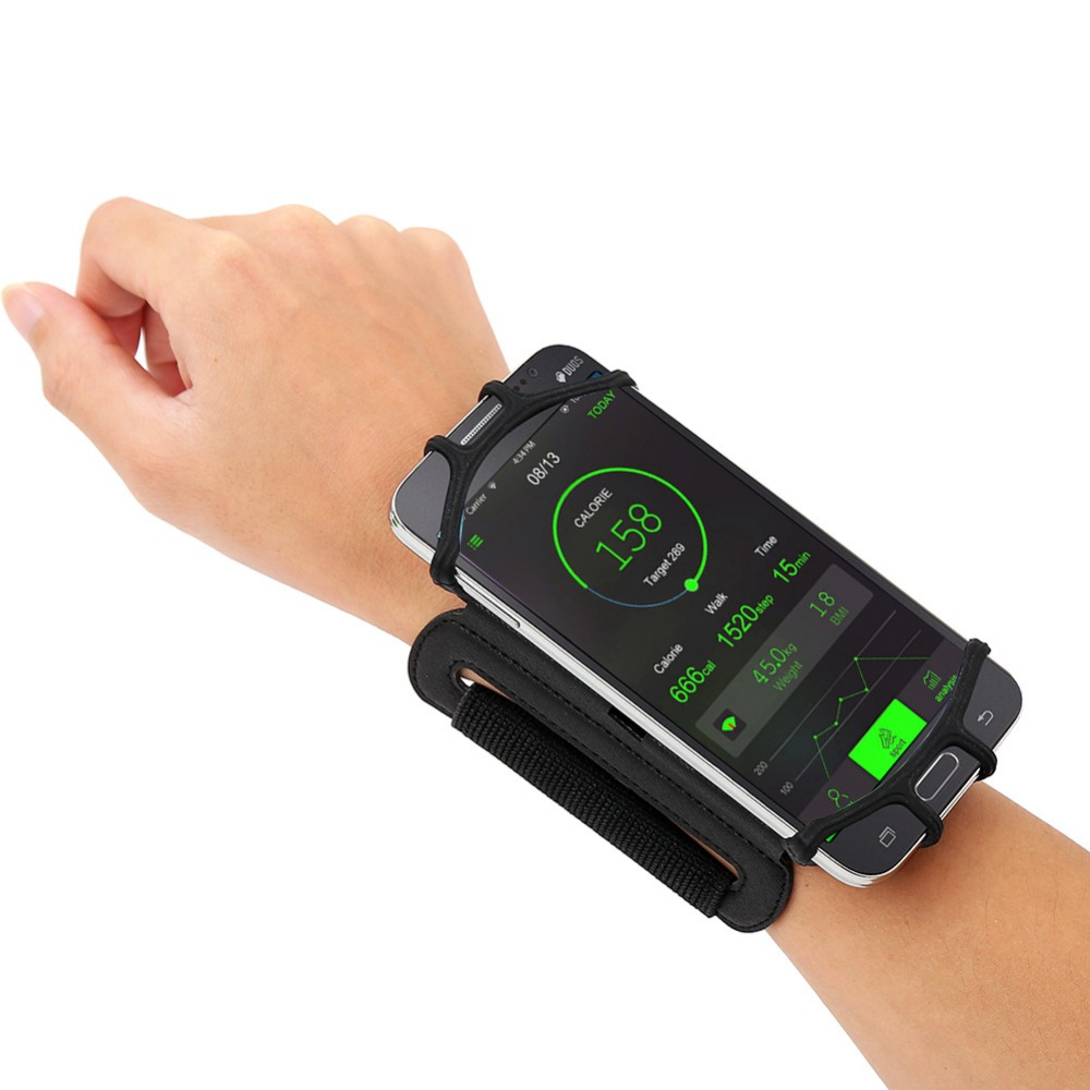 Just plug your phone into this phone wristband, and move freely as you wish!…