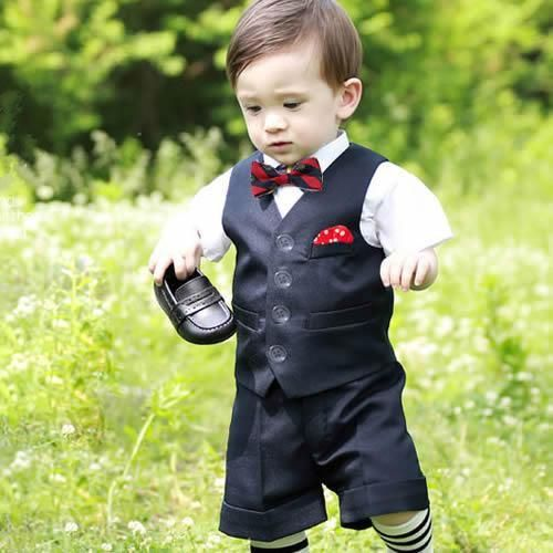 Wedding Clothes For Boys 2017 New Boy S Formal Wear Tuxedo Little Suit Black