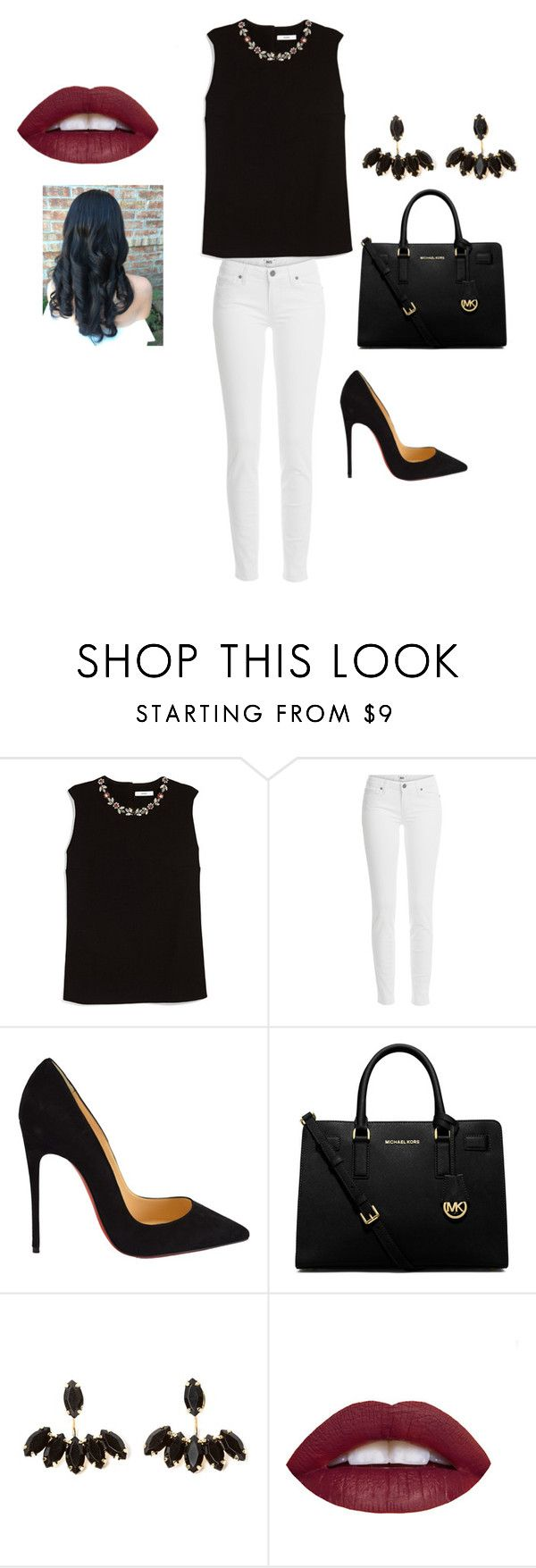 """""""Dressy Day & Night"""" by graciexluv on Polyvore featuring Erdem, Paige Denim, Christian Louboutin, MICHAEL Michael Kors, women's clothing, women, female, woman, misses and juniors"""