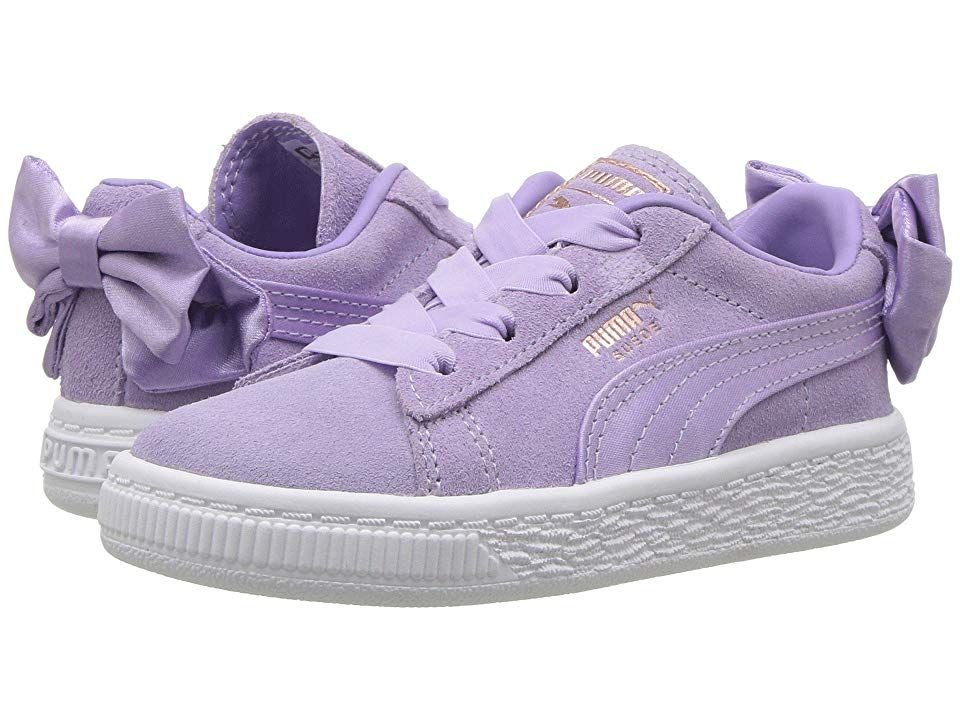 Puma Kids Suede Bow AC INF (Toddler) Girls Shoes Purple Rose