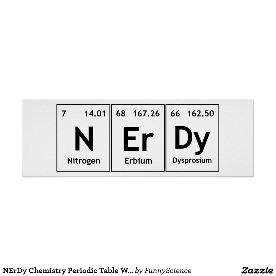 Nerdy chemistry periodic table words elements nerd poster nerdy chemistry periodic table words elements nerd poster urtaz Image collections